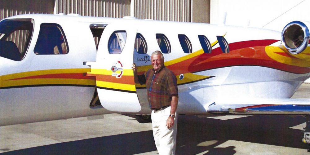 James C. Ray and his Citadon Jet | Ray Foundation, Inc.